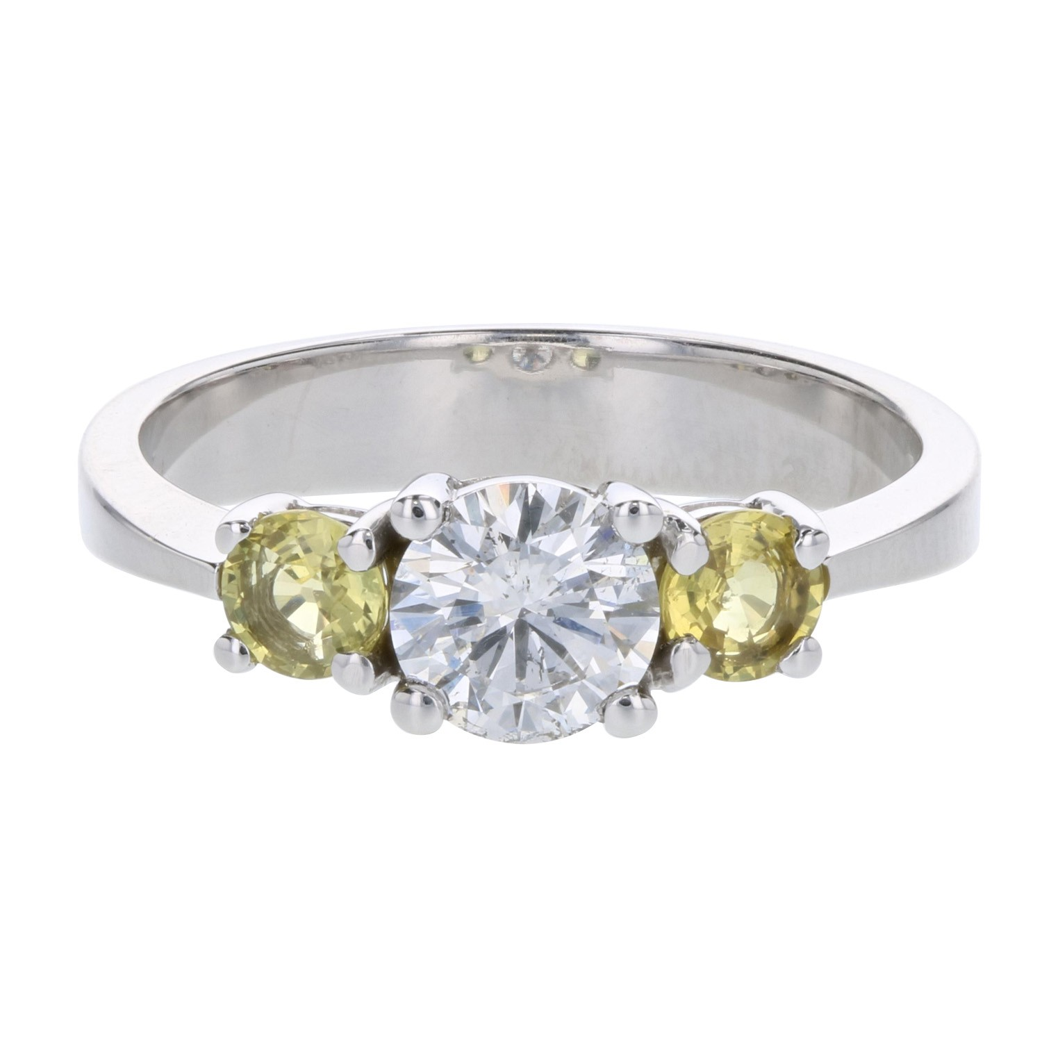 engagement ring with sidestones